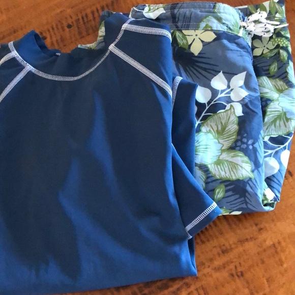 94d7ecbeda Lands' End Swim   Lands End Youth Board Short And Sun Shirt   Poshmark